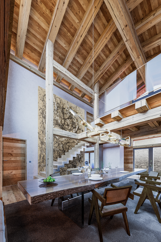 Aménagement intérieur d\'un chalet dans les Alpes Suisses   Alexandre ...