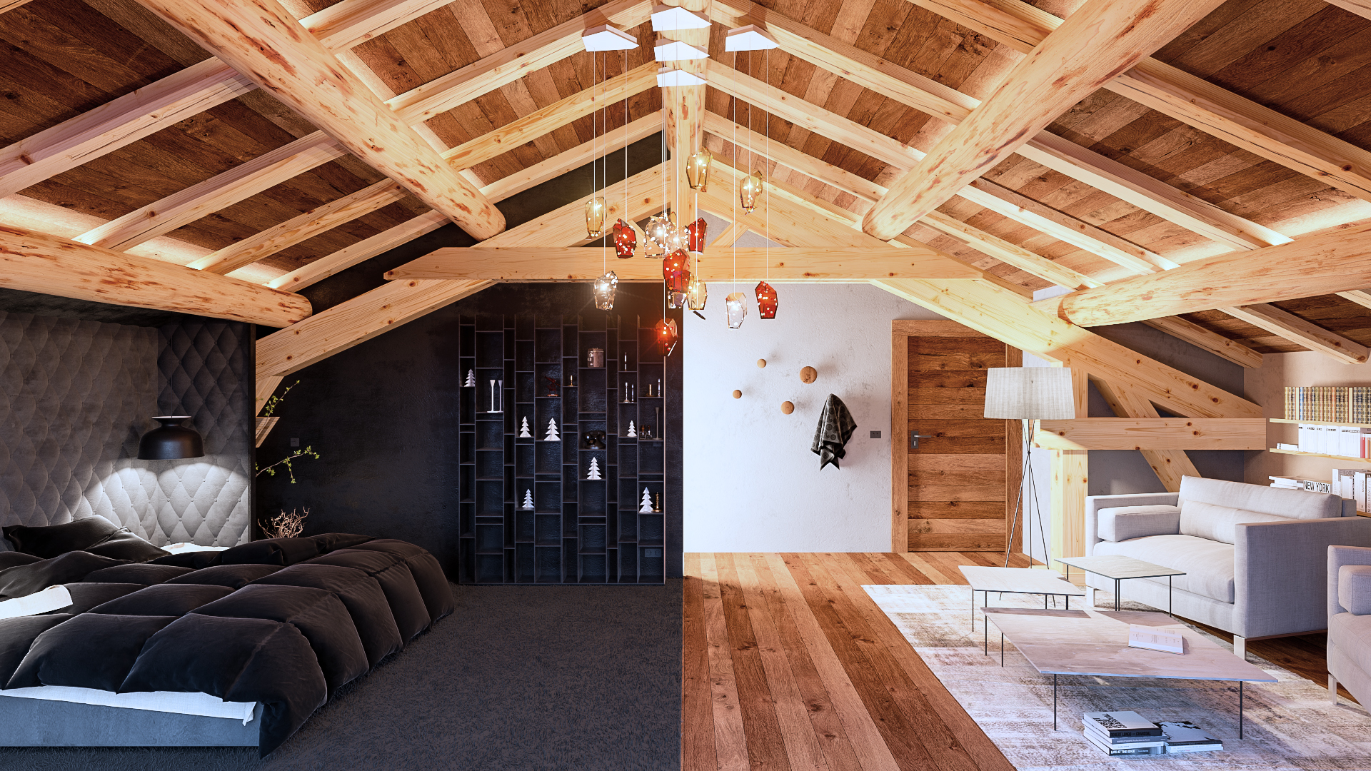 Am nagement int rieur d un chalet dans les alpes 2 for Amenagement interieur chalet