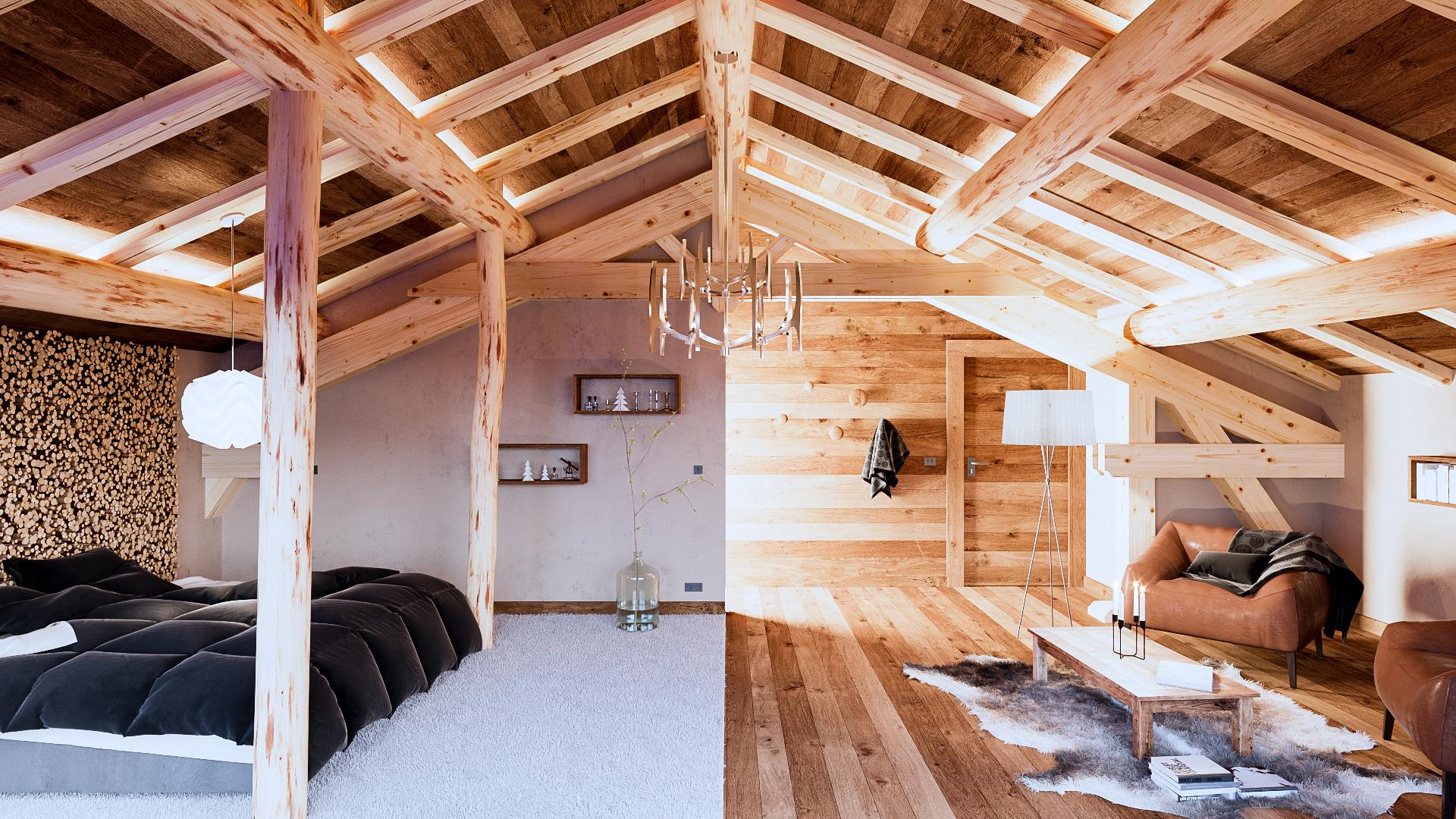 Aménagement intérieur d\'un chalet dans les Alpes (3) | Alexandre ...